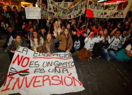 Manifestació per l'educació pública i de qualitat. Alacant 21/01/2012