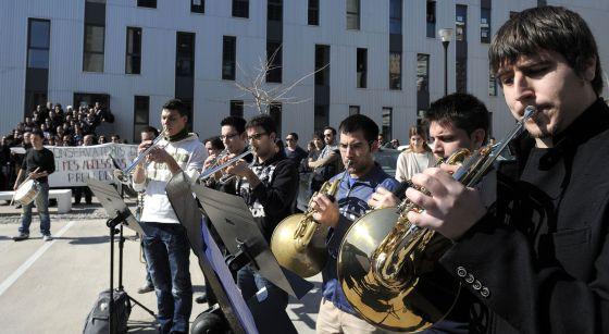 Protesta del conservatori de música de València. 23/02/2012