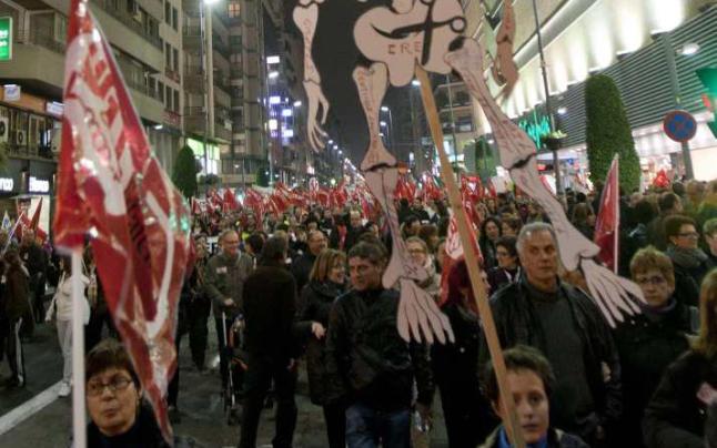 Manifestació contra les retallades en serveis públics. Alacant 26/01/2012