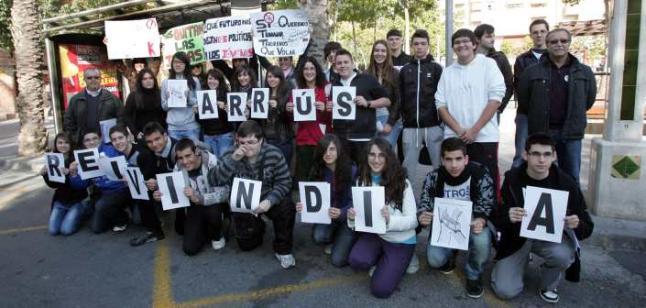 Estudiants contra l'augment del preu de l'autobús